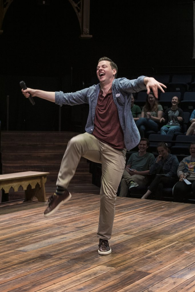 """Actor Michael Doherty in Utah Shakespeare Festival's production of """"Every Brilliant Thing."""""""