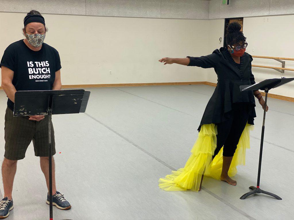 Black Benatar in rehearsal at Kingsbury Hall