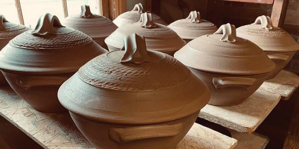 Bread baker pots by Joe Bennion