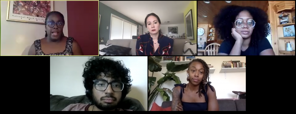 Five artists and writers on a Zoom panel about systemic racism in the Utah arts world